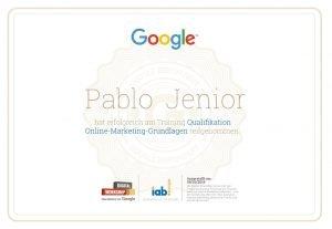 Google Online Marketing Zertifikat
